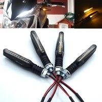 Universal motocicleta led indicador de sinal de volta flexível luz âmbar para bmw k1200r k 1200 r k 1200r k1200 r 2005- 2008