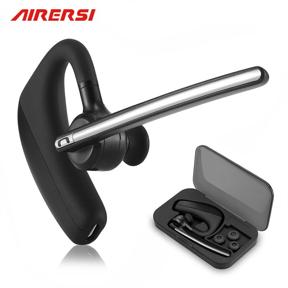 K10 Bluetooth Earphone Wireless Headphones Stereo Handsfree Noise Cancelling Business Blue