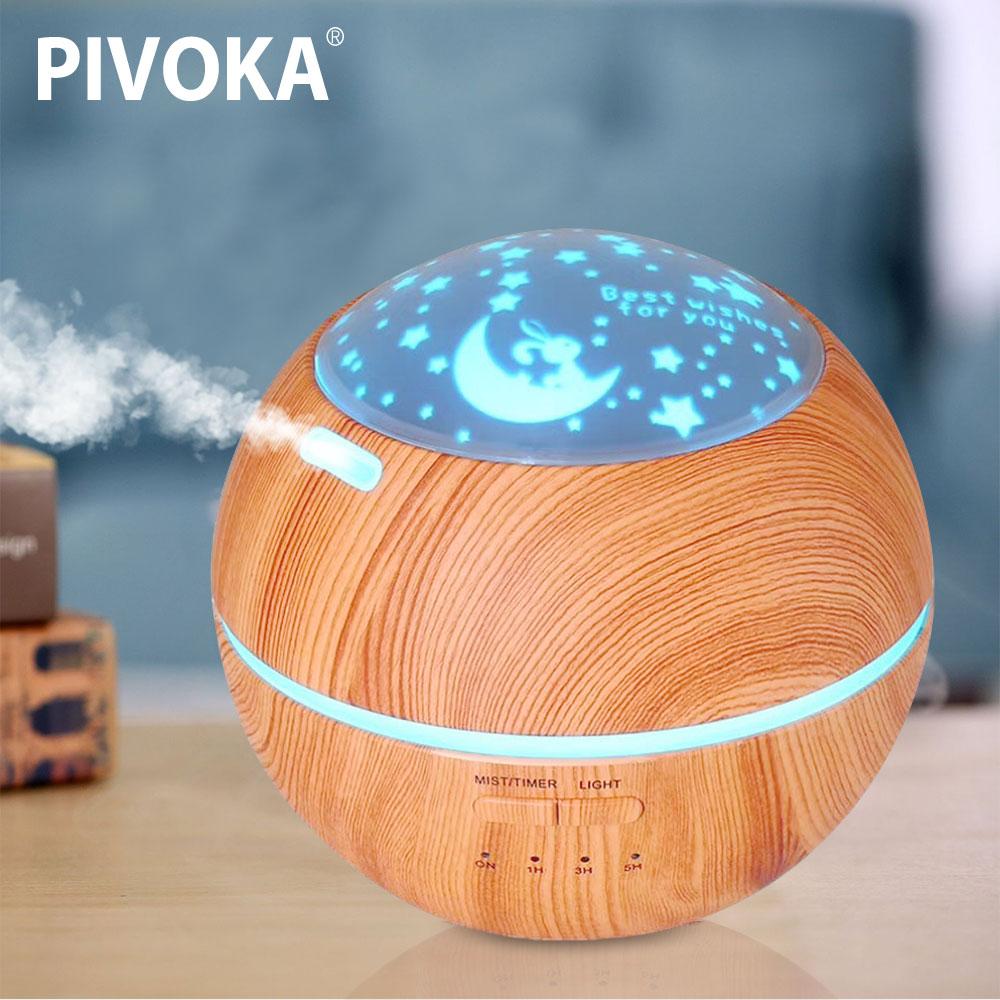 цена на PIVAKA Timing Home Air Humidifier Aroma Diffuser Ultrasonic Electric Aroma Radiator 7 Color Cool LED