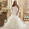Vestido de Noiva sereia 2016 Saias TuTu Bling Bling brilhantes Vestidos de Noiva Lace Up Middest Leste Árabe Do Vestido de Casamento