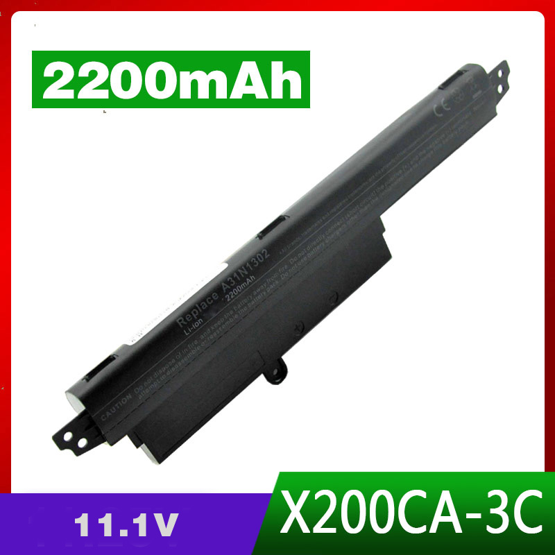 3Cell 2200mAh NEW Laptop Battery For ASUS A31N1302 A31LM9H VIVOBOOK X200CA F200CA 11.6 NOTEBOOK Series x200m x200ma x200ca