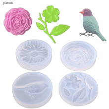 Silicone Resin Mold Bird Flower Leaves Pendant Casing Craft Jewelry Making Tool