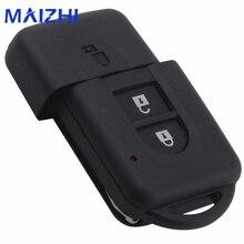 Maizhi 2 Пуговицы удаленной машине ключ В виде ракушки чехол для Nissan Micra XTRAIL Qashqai Juke Duke режиссерский лезвие брелок случае замена