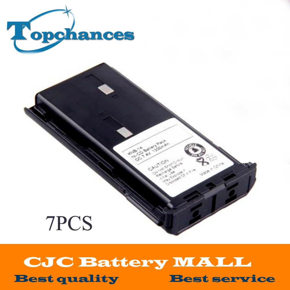 7 X 1200mAh 7.4V NI-CD KNB-14A KNB-15A Battery for KENWOOD TK-260G TK-360G TK-2100 TK-3100