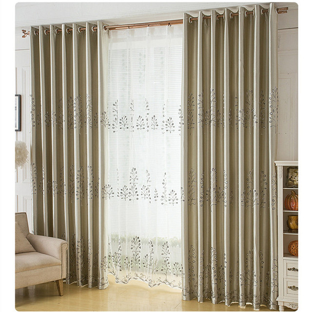 Modern Blackout Curtains Full Shade Solid Color Window