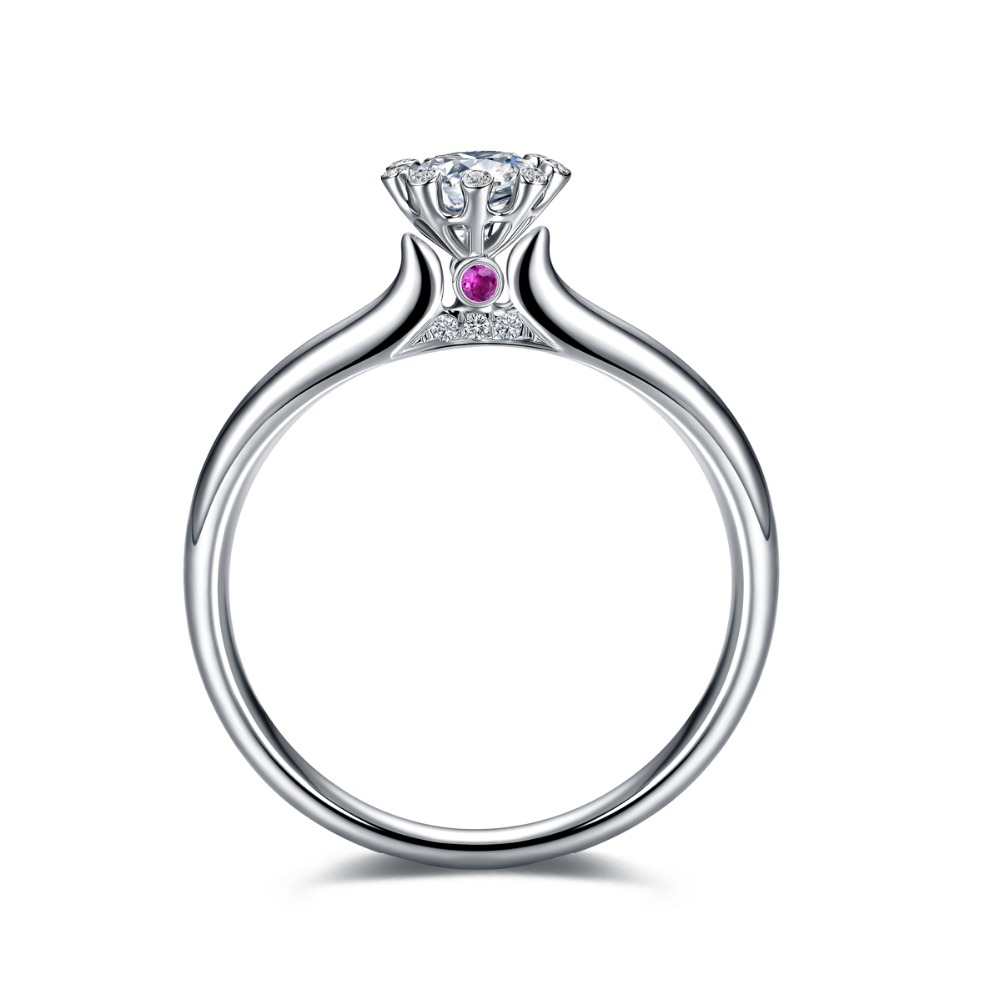 Engagement Ring Women Cubic Zirconia Hearts And Arrows Cut Proposal Ring  Genuine 925 Sterling Silver Jewelry