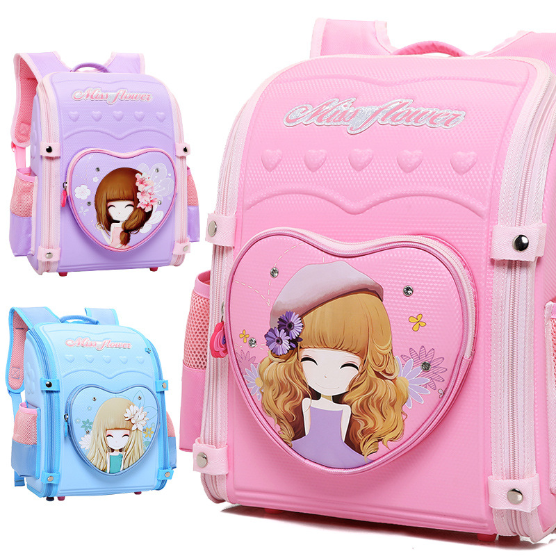 2019 new Folding Children's Backpack Kids printing girl School Bags Big Capacity Waterproof Kids Book Bag Orthopedic Schoolbag M