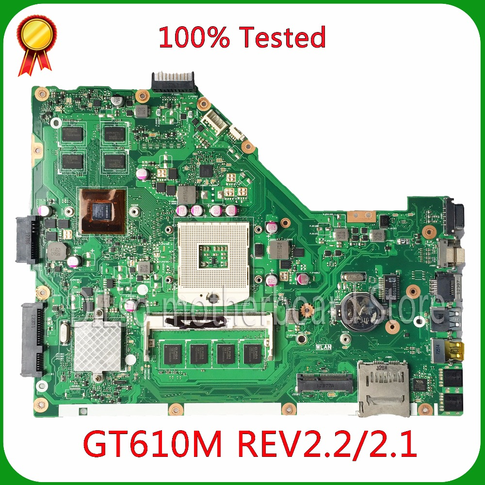 KEFU X55VD laptop motherboard for ASUS X55VD PM motherboard REV2.1/2.2 original work 100% Test kefu x55vd laptop motherboard for asus x55vd motherboard ddr3 rev2 2 non integrated work 100% test