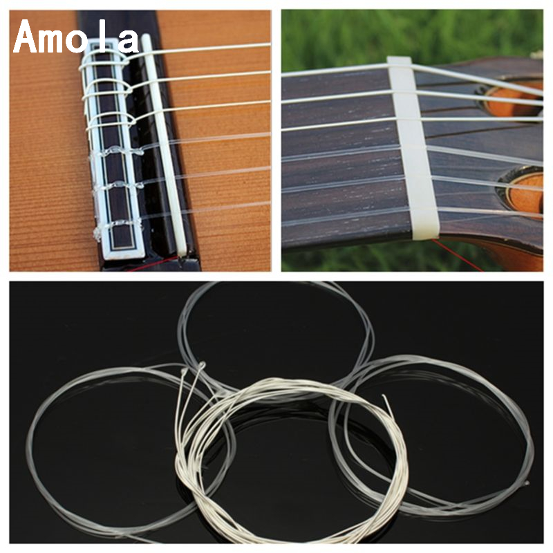 Classical Guitar Strings set CGN10 Classic Nylon  Silver Plated Normal Tension 028-045 Classical Guitar Strings 6strings/set classical guitar strings set cgn10 classic nylon silver plated normal tension 028 045 classical guitar strings 6strings set