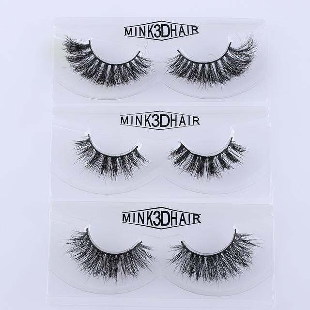 Handmade 3D Mink Hair False Eyelashes Soft Natural Messy Fluffy Lashes Thick Full Strips Fake Eye Lash Extension Makeup Tools False Eyelashes
