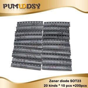 Диод Зенера в упаковке SOT23, 20 видов * 10 шт. = 200 шт., набор образцов ki