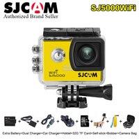 Оригинальный SJCAM sj5000 Wi Fi 2.0 ЖК дисплей Экран ntk96655 действие Камера мини sj Cam 5000 WiFi 30 м Водонепроницаемый Мини плюс спорт DV Cam