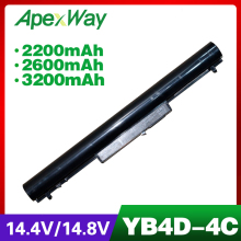 ApexWay 14.8v Laptop Battery for HP HSTNN-DB4D 695192-001 HSTNN-YB4M H4Q45AA HSTNN-PB5S HSTNN-YB4D  VK04 694864-851 VOLKS volks game