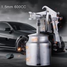 цена на 1.5mm 600CC Car Pneumatic Spray Gun Airbrush Sprayer Alloy Painting Atomizer Airbrush Tool HVLP Fed Lacquer
