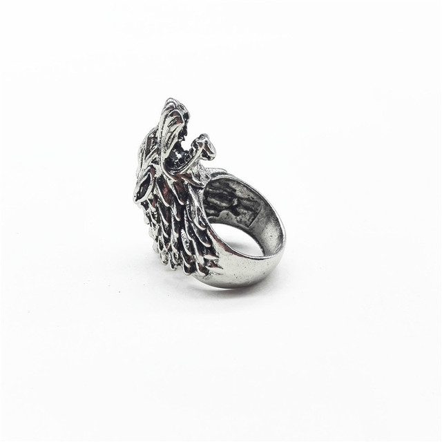 """Ice Wolf House Stark Of Winterfell"" Ring  2"