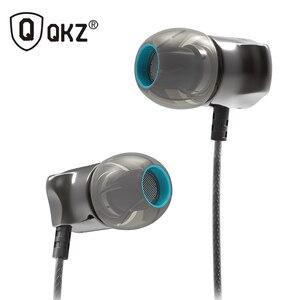 Image 2 - אוזניות באוזן אוזניות HiFi אוזן טלפון מתכתי אוזניות סטריאו באוזן אוזניות QKZ X10 אבץ סגסוגת רעש מבטל אוזניות DJ