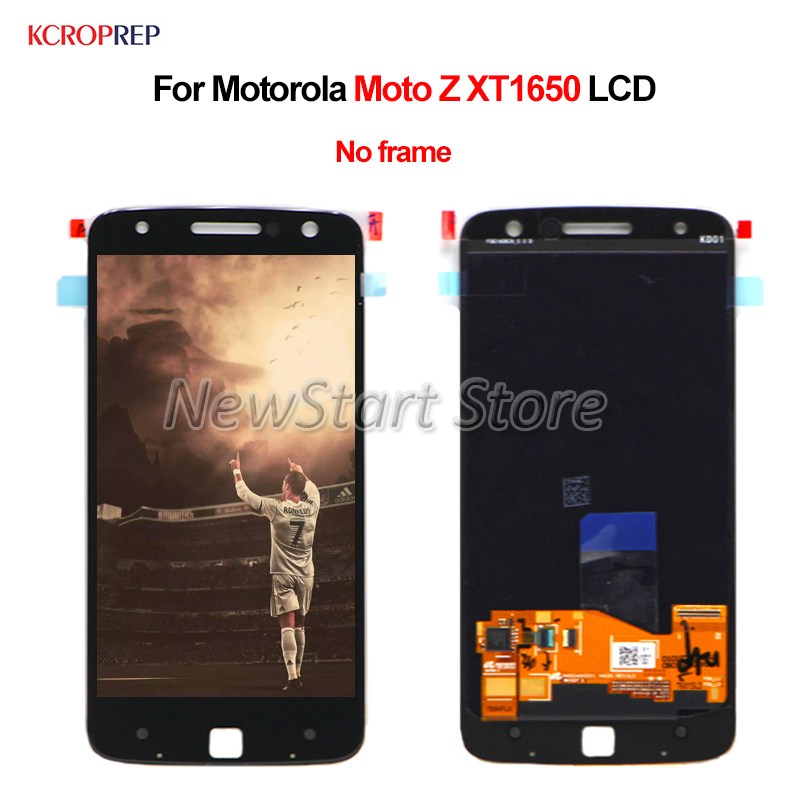 """For Motorola Moto Z XT1650 LCD Display Touch Screen Digitizer Assembly Replacement 5.5"""" No Frame For Moto Motorola Z XT1650 lcd"""