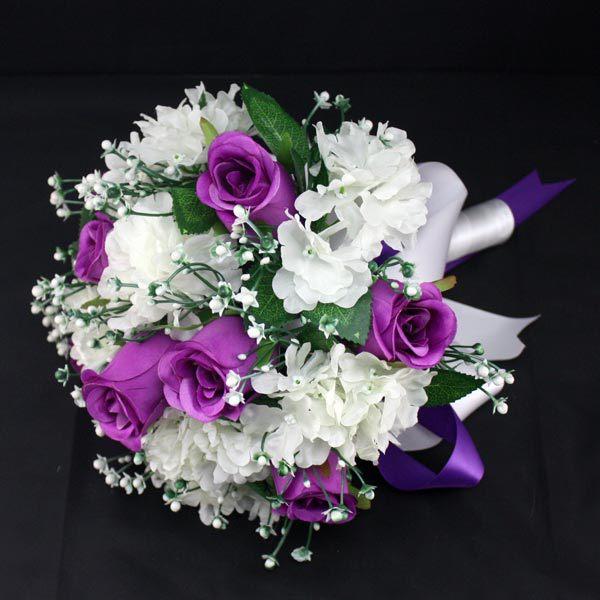 Europe Bridal Bouquets Handmade Foam Rose Lace Wedding Decoration ...