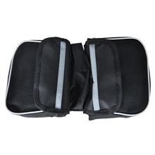 3 Pcs of (Bike Cycle Bicycle Double Pannier Mountain Frame Front Tube Saddle Bag Pouch UK)