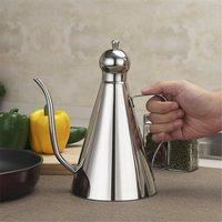 Stainless Steel Olive Oil Vinegar Dispenser Jar Seasoning Condiment Pot Bottles Container Kitchen Storage Tools 0.5/0.35/1L