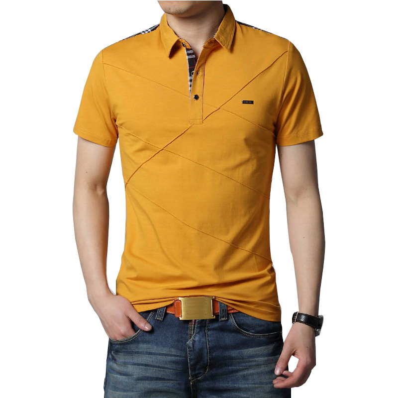 Mens T Shirts Fashion 2019 5XL Summer T Shirt Geometric Design Turn down Collar Short Sleeve Cotton T shirt Men Tee 5XLmen teesfashion teest-shirt men -