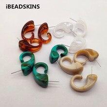 Nieuwe collectie! 30x17mm 100pcs Acryl Marmeren effect Stud earring voor Oorbel accessoires, Oorbel onderdelen, Sieraden Bevindingen