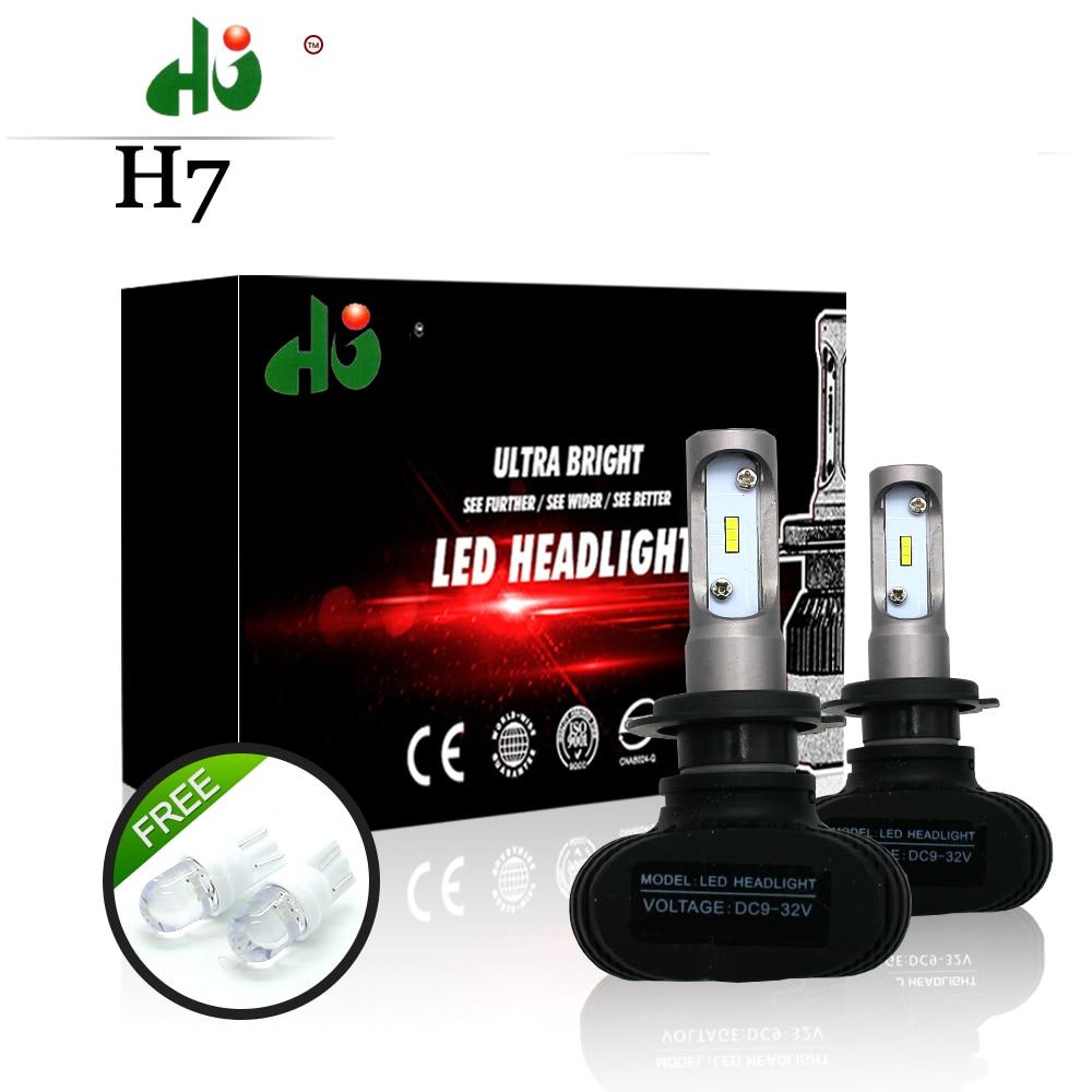 S1 CSP Led Headlights H1 H3 H4 H7 H11 H13 9005 9006 LED Car Headlight Bulb
