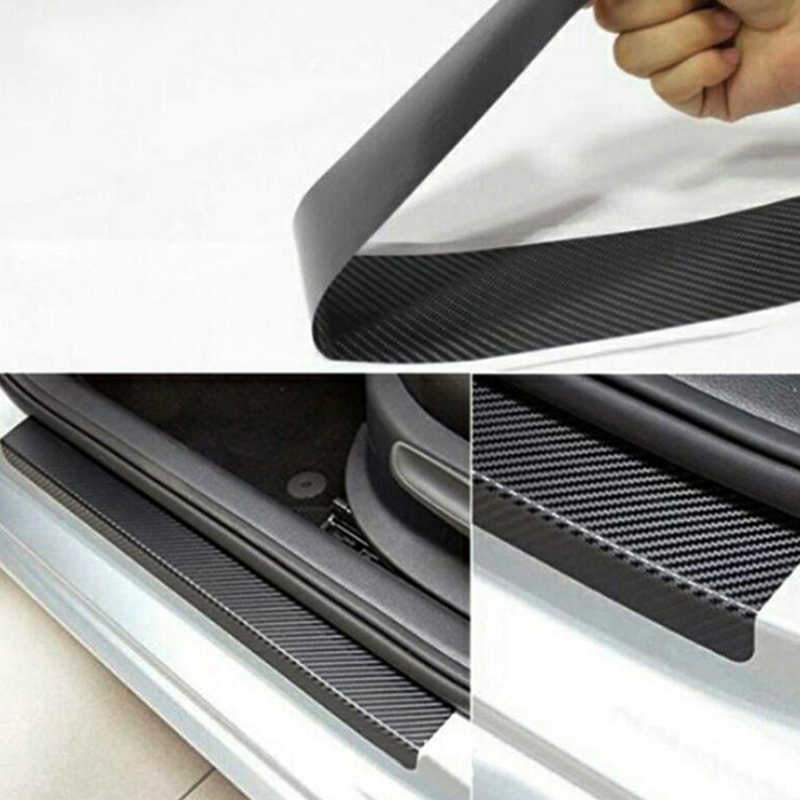 Carbon Fiber Threshold Guard Plates Car Door Sill Protector Stickers For Antara 4 Pcs Anti-Dirty Anti-Scratch Protection Strips