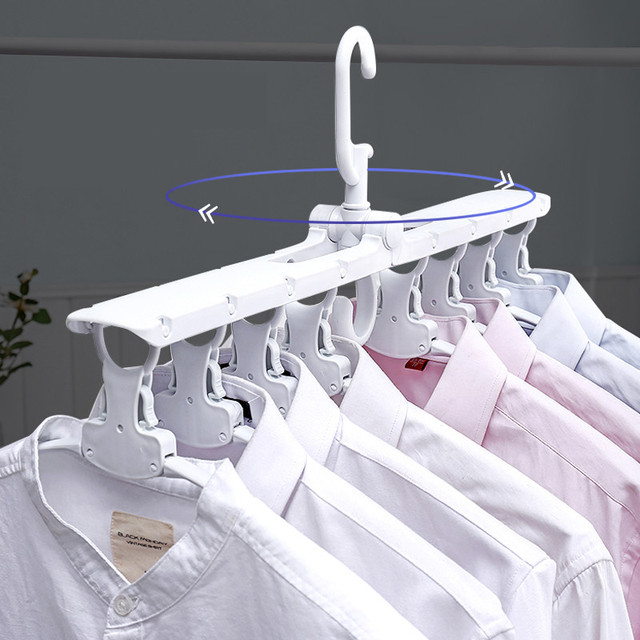 Multifunctional Magic Smart Hanger Storage Foldable Artifact Clothes Rack Household Drying Rack Clothing Multi-layer Folding