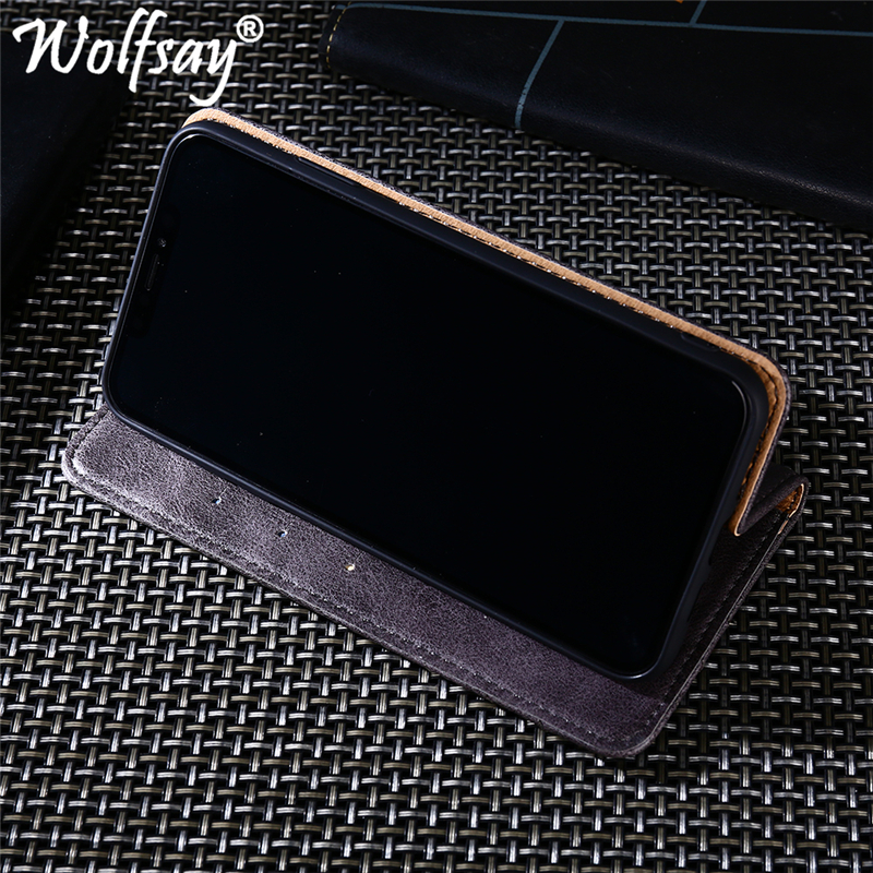 Wolfsay Huawei Y5 Lite 2018 Case Triangle Pattern Flip Cover PU leather Soft TPU Inside Cases for Huawei Y5 Lite 2018 DRA LX5 in Flip Cases from Cellphones Telecommunications
