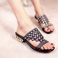 fashion College student big virgin Children summer Rhinestone high-heeled beach slippers Flip Flops Sandals shoes 33~41 42