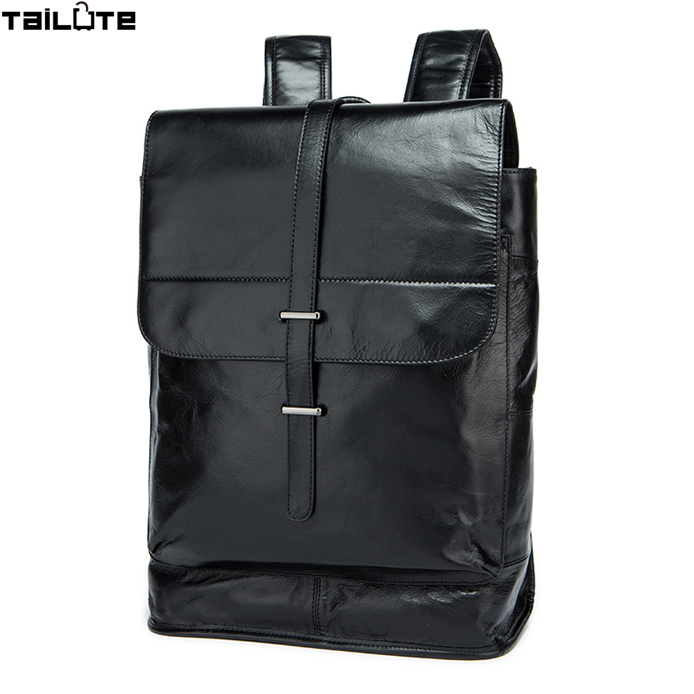 все цены на TAILUTE Fashion Designer Genuine Leather Men's Backpacks Bolsa Mochila for Laptop Notebook Computer Bags Men School Rucksack онлайн