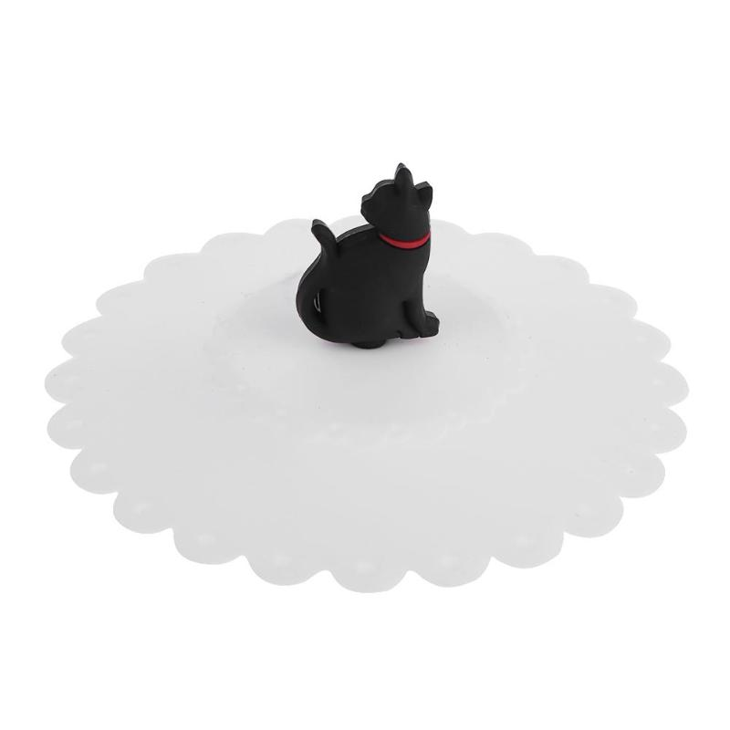 Trendyest Tapa de La Taza Tapa de Silicona Linda para Gato Cubierta A Prueba de Polvo Tapa Sellada T/é Caf/é A Prueba de Fugas