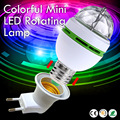 2017 NEW Colorful Auto Rotating lampada 85-260V Bulb Stage Light Party Lamp Disco MIni RGB LED Nightlight EU plug E27 3W