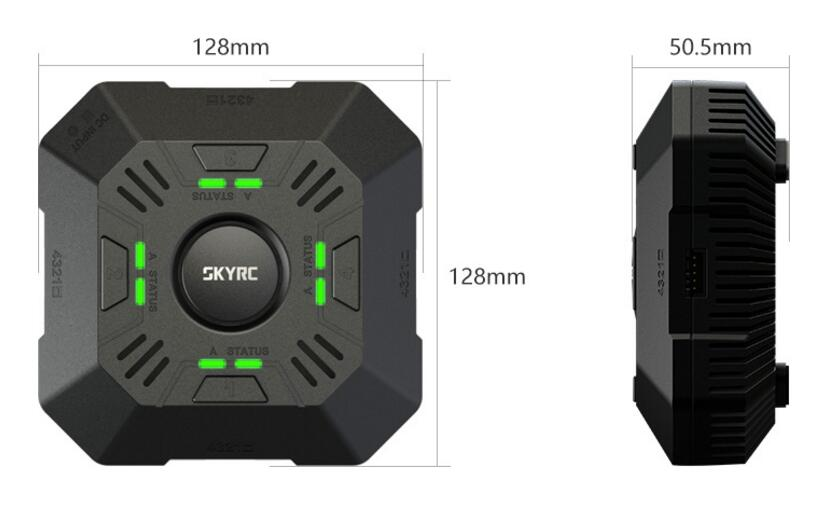 SKYRC E4Q Battery Charger Fast Charge 4 Channel DC Multi Charger 5A 2 - 4S LiPo For DJI Battery Xiaomi DroneSKYRC E4Q Battery Charger Fast Charge 4 Channel DC Multi Charger 5A 2 - 4S LiPo For DJI Battery Xiaomi Drone