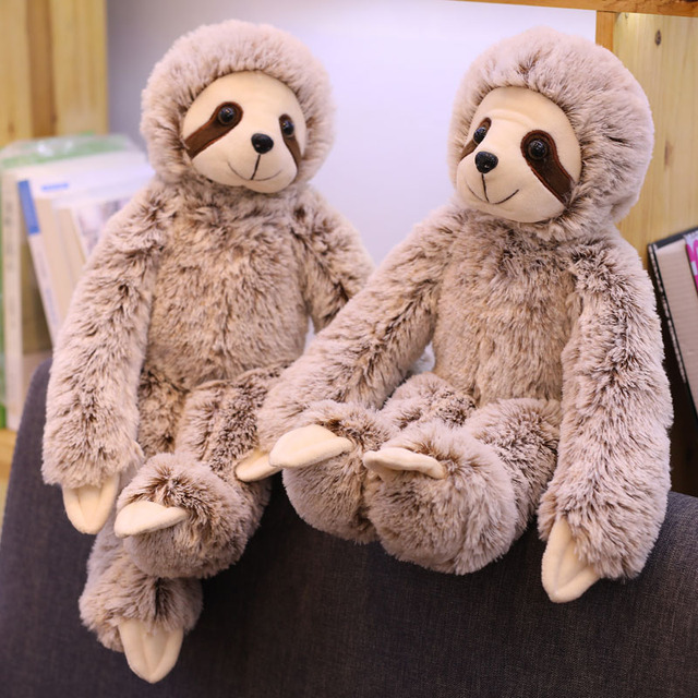 1PCS 50 70cm simulation sloth plush stuffed toy cute soft lifelike animal doll kids baby toy