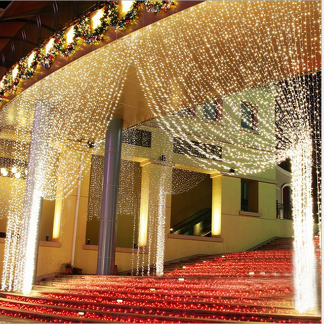 300LED curtain string for the wedding genie l& decoration l& new curtain Icicle light string Xmas & 300LED curtain string for the wedding genie lamp decoration lamp ... azcodes.com