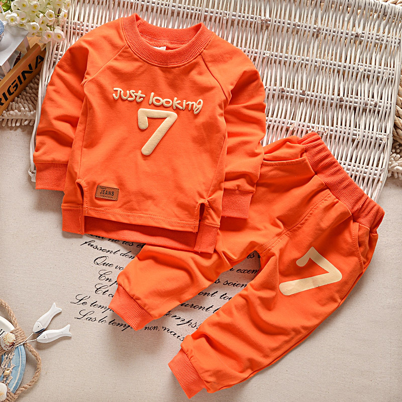 Baby Girl Clothes Children's Long-sleeved Autumn And Winter Suits Boys And Girls 2-6 Years Old Baby T-shirts And Pants(China)