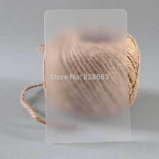 Пустой прозрачный деловая карточка из ПВХ без печати 85x54 мм толщиной 0,36 мм