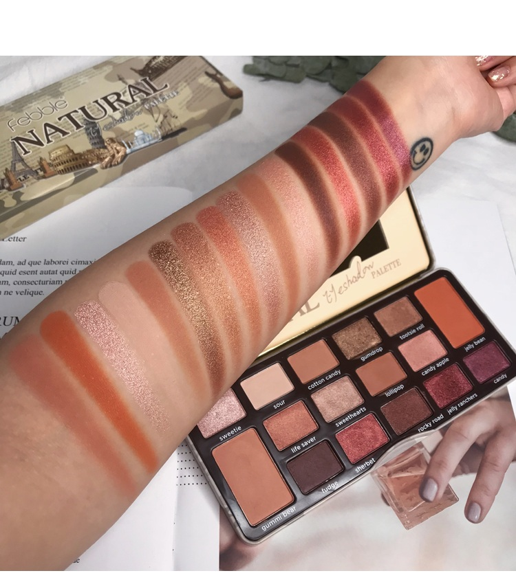 Paleta de sombra encantadora 16 cores maquiagem