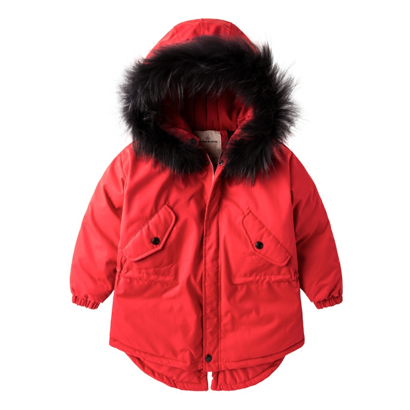 Children 2018 New Winter Warm Coats Kids Boys Girls Thickening Hooded Jacket Cotton Padded Snowsuit Fur Collar Clothes 2-7T 2017 new boys winter thick warm coat kids school hooded casual jacket kid snow outerwear down cotton padded winter coats clothes