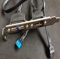 Usb do painel traseiro suporte de cabo 9pin e USB 1 porto esata sata III 2 porto