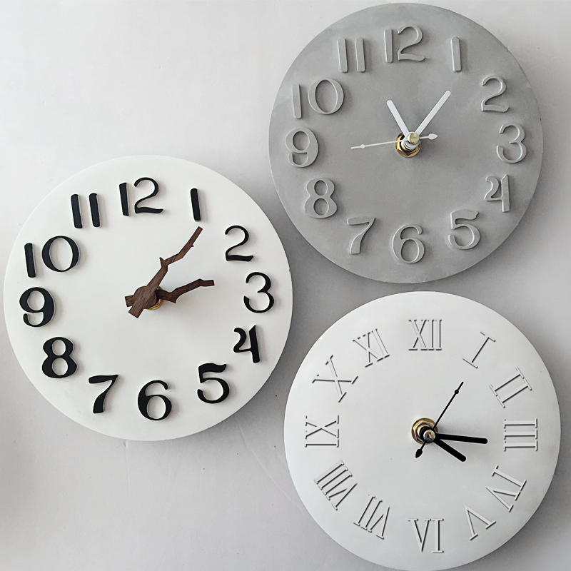 Constellations Cement Clock Concrete Silicone Mold DIY Plaster Clay Crafts Mould Handmade Clock Crystal Epoxy Molds