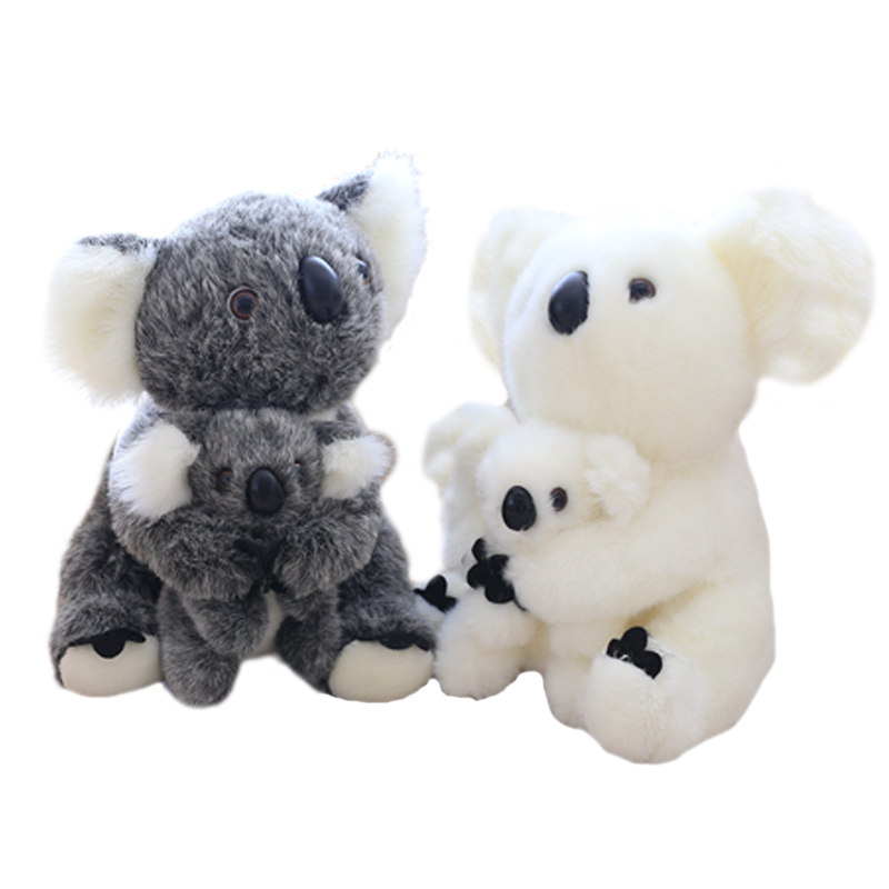 28CM Super Cute Sitting Mother and Baby Koalas Plush Toys Stuffed Koalas Dolls Kawaii Kids Toys Soft Pillow Lovely Birthday Gift alzenit for hp p2014 p2015 2727 2014 2015 original used fuser unit assembly rm1 4248 rm1 4247 220v printer parts on sale