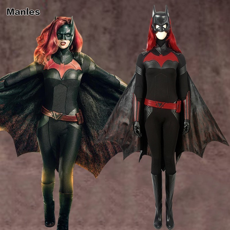 Batwoman Costume Katherine Rebecca Kate Kane Cosplay Brightbat Adult DC Comics Halloween Carnival Full Set With