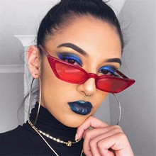 2018 Cat Eye Tiny Small Sunglasses Women Men Brand Designer UV400 Sun Glasses Shades PC Frame Flat Lens oculos de sol feminino цена