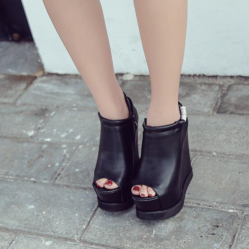 Chaussures De Pompes Perlée forme Creux 3750 Zipper Femmes Designer Sculpté Dames Sexy Soirée Épais Hauts Talons Plate Coins Marque qtPFTwFfI