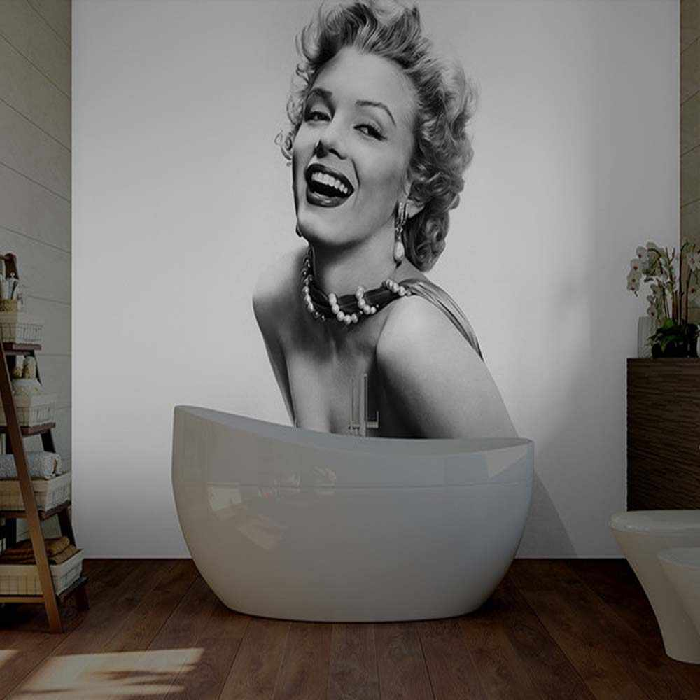 Marilyn Monroe Girl Wall Mural Photo Wallpapers Bedroom Vinyl Wall