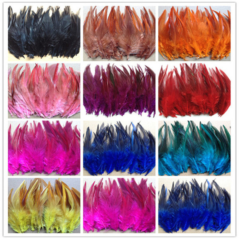 Wholesale!Beautiful 50pcs  dyeing rooster tail feathers 10-15cm  4-6inch  Colors optional