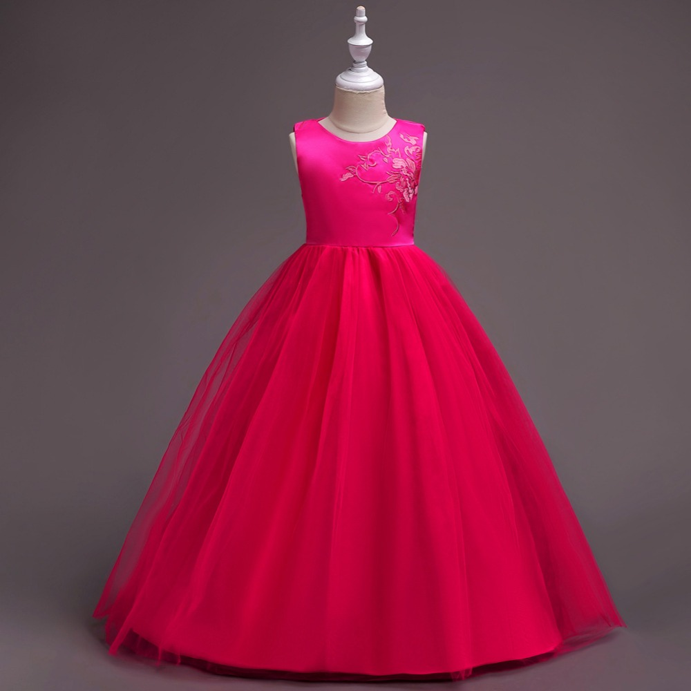 Chaffare meisjes lange jurken formele bruiloft feestjurk Kinderen - Kinderkleding - Foto 5
